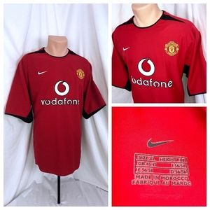 Manchester United Vodafone Red XL Soccer Jersey